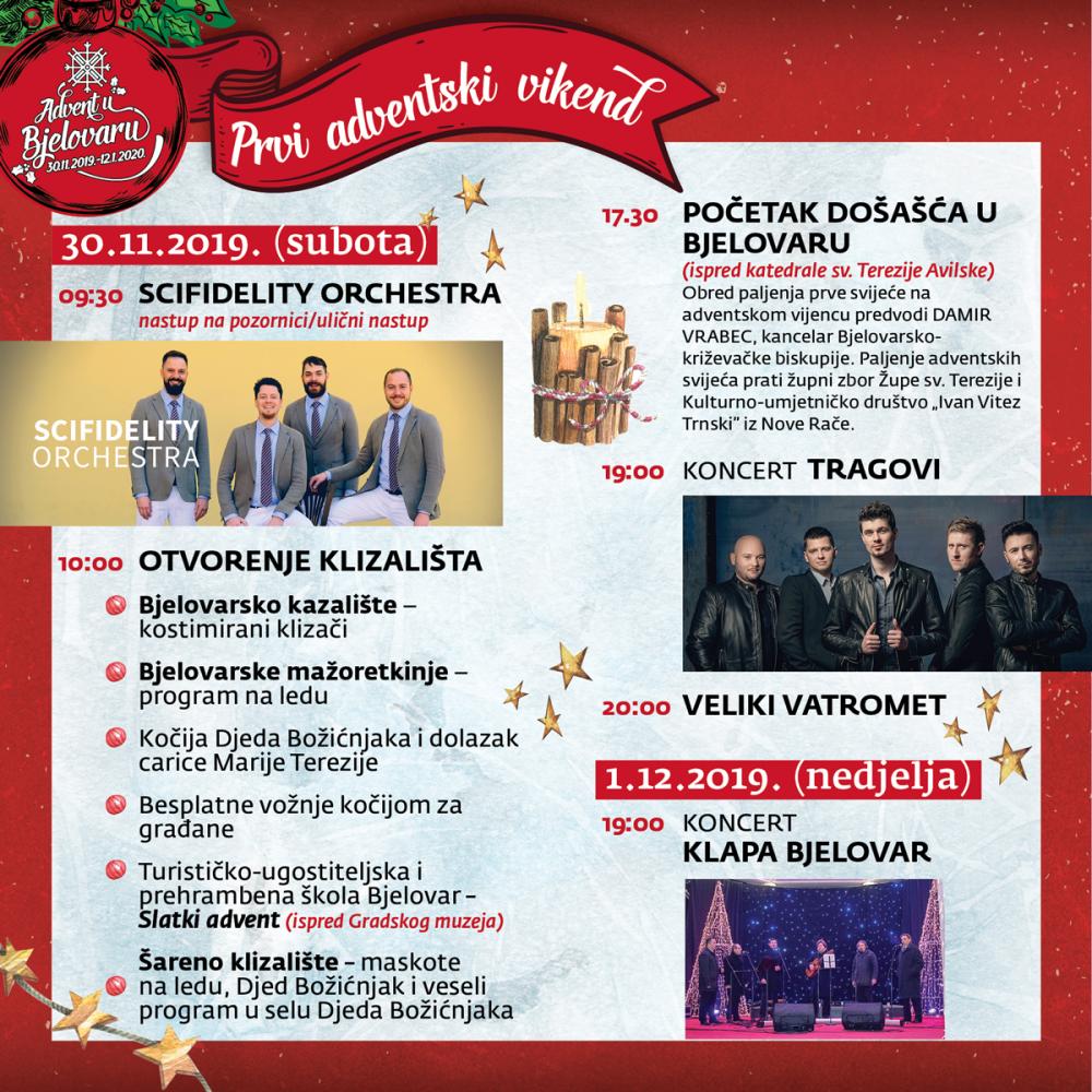 Advent u Bjelovaru 2019. - Prvi tjedan